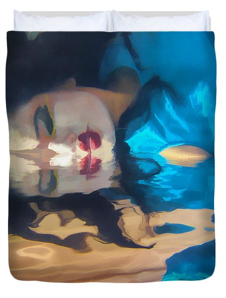 Underwater Geisha Abstract 1 Duvet Cover by Scott Campbell