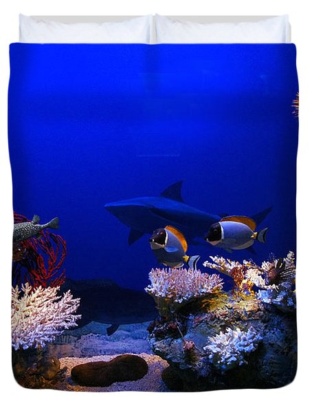 Underwater Scene Duvet Cover by Michal Bednarek