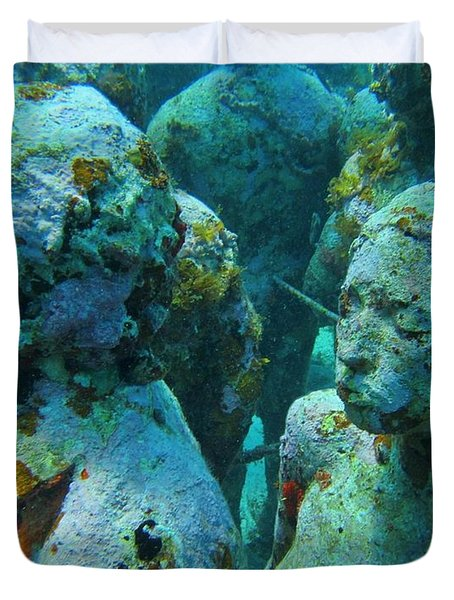 Underwater Tourists Duvet Cover by John Malone