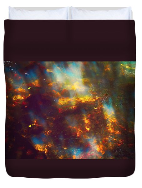 Underwater Treasure Duvet Cover by Jenny Rainbow