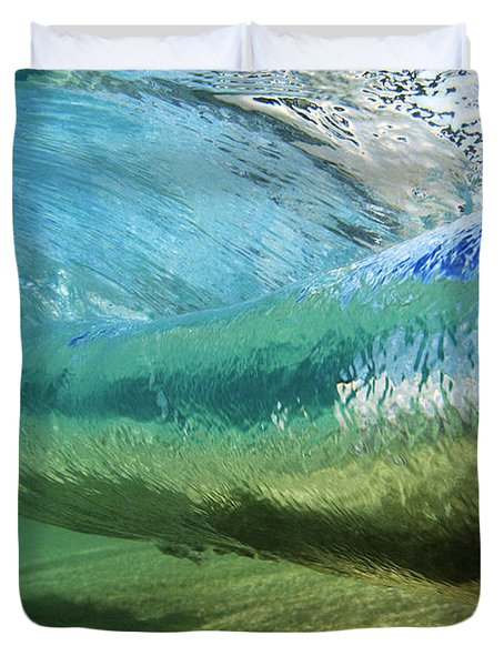 Underwater Wave Curl Duvet Cover
