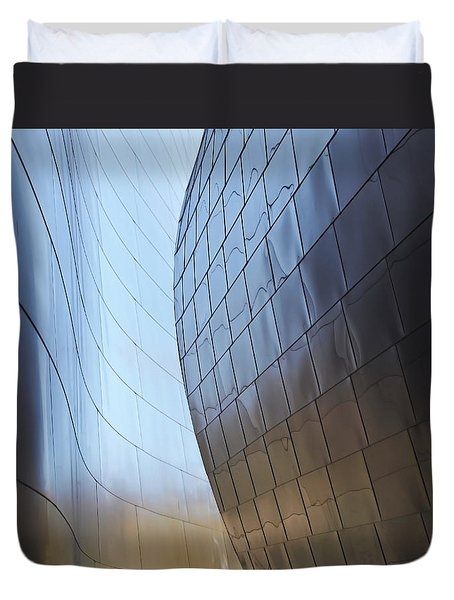 Undulating Steel Duvet Cover