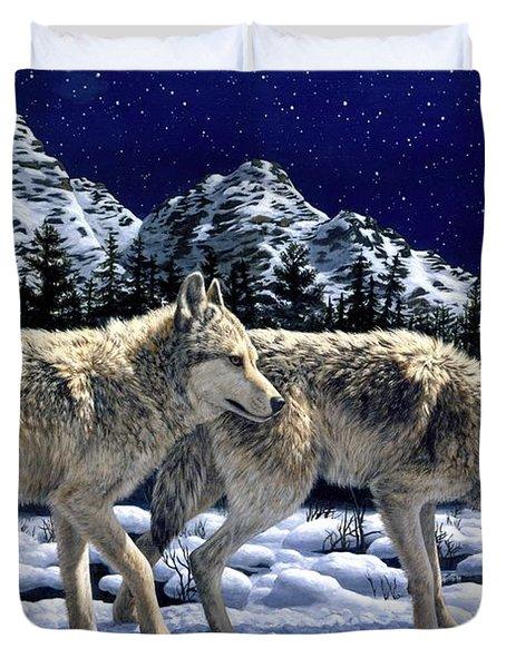 Wolves - Unfamiliar Territory Duvet Cover