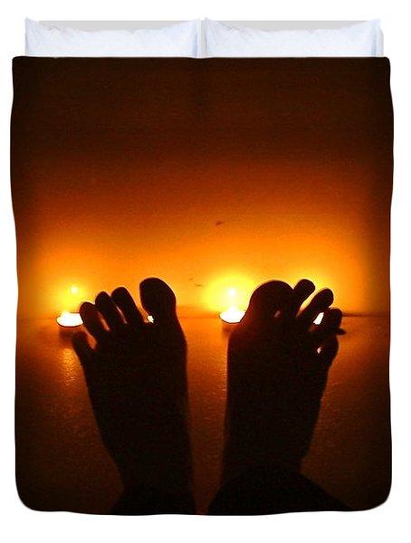 Unfreeze Your Feet Duvet Cover