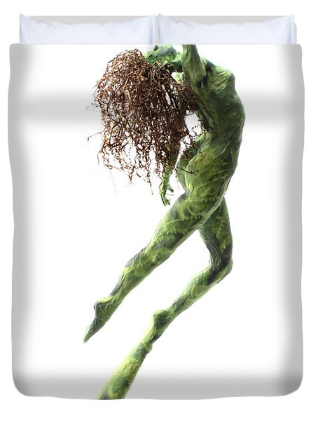 Unfurled Back View Duvet Cover by Adam Long