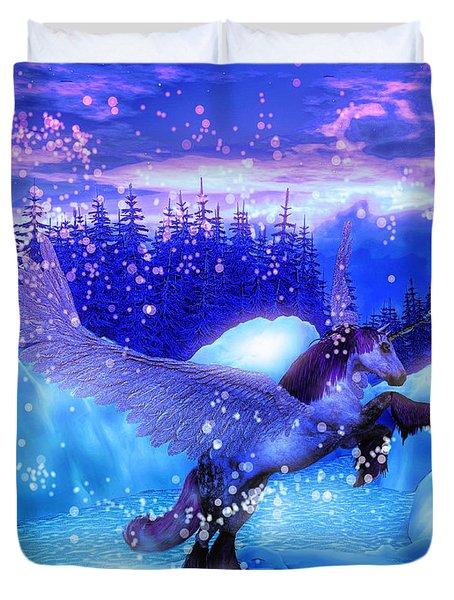 Unicorn Duvet Cover by David Mckinney