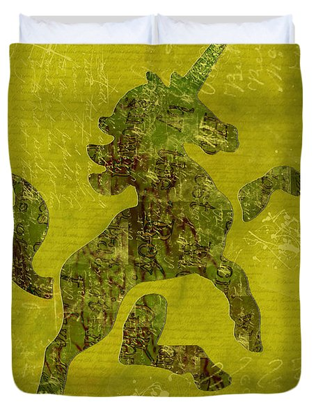 Unicorn Fresco Duvet Cover by Sarah Vernon
