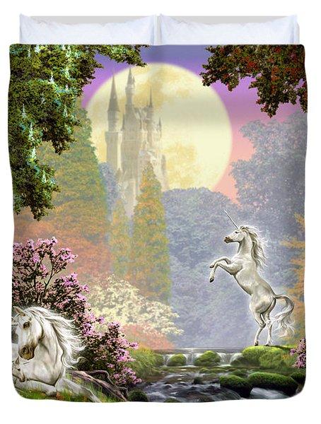 Unicorn New Born Duvet Cover by Garry Walton