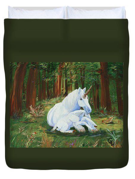 Unicorns Lap Duvet Cover