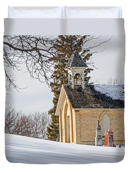 Union Cemetery Chapel Duvet Cover