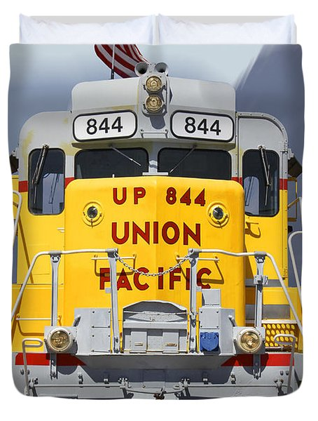 Union Pacific 844 On The Move Duvet Cover
