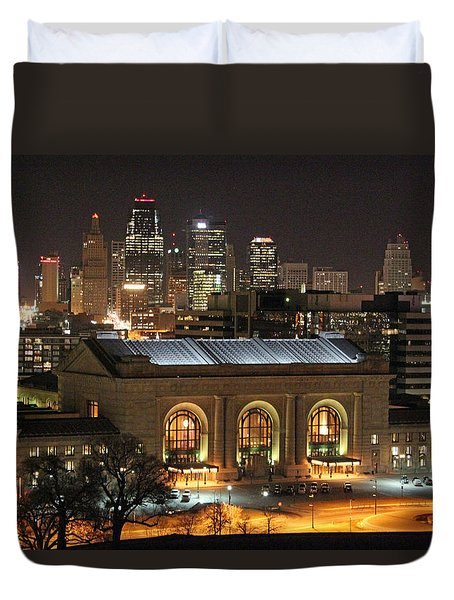 Union Station At Night Duvet Cover