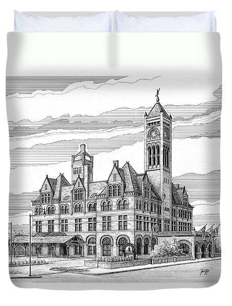 Union Station In Nashville Tn Duvet Cover