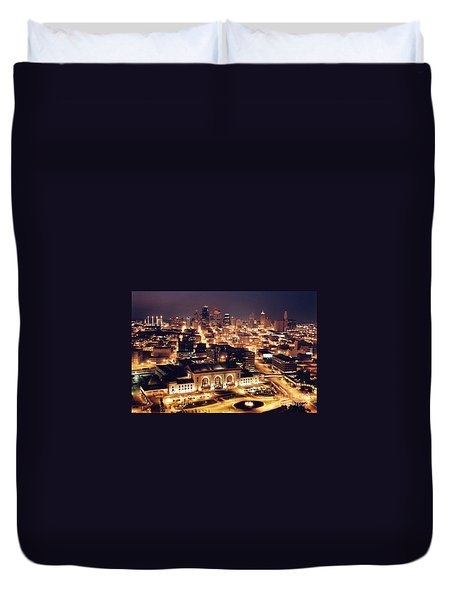 Union Station Night Duvet Cover
