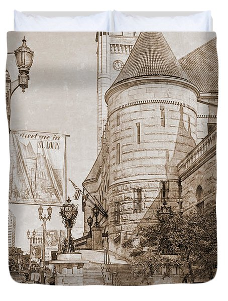 Union Station St Louis Mo Duvet Cover by Greg Kluempers