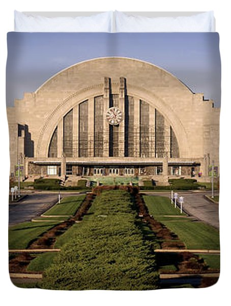 Union Terminal Duvet Cover