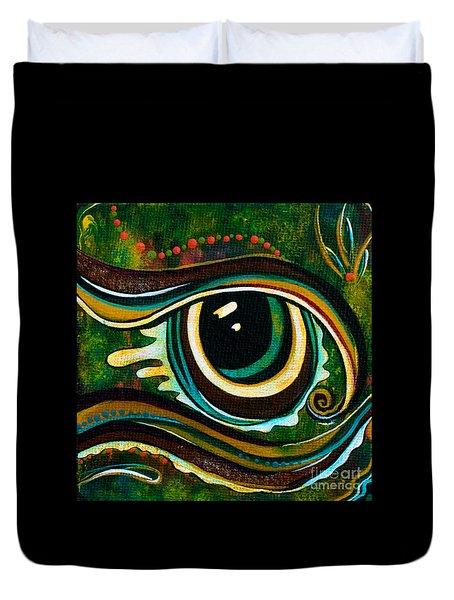 Unique Spirit Eye Duvet Cover by Deborha Kerr