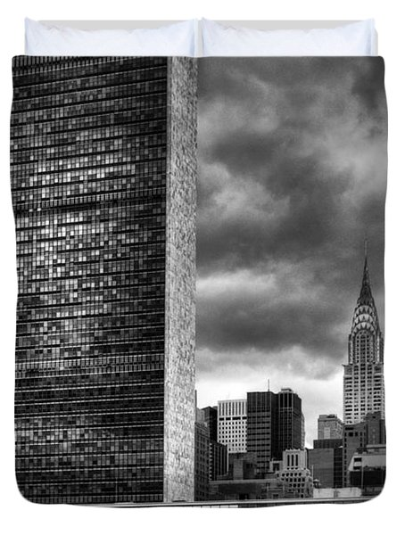 United Nations And Chrysler Building Duvet Cover