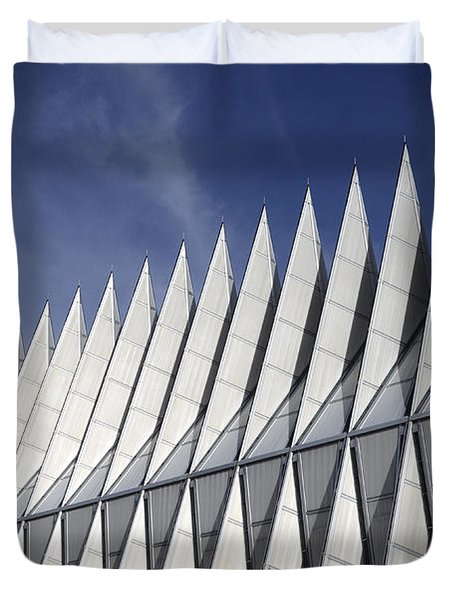United States Airforce Academy Chapel Colorado Duvet Cover by Bob Christopher