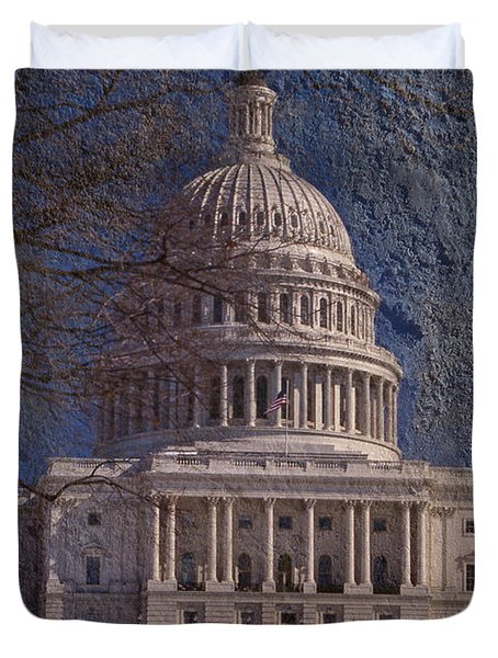 United States Capitol Duvet Cover by Skip Willits