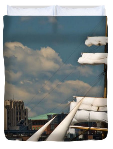 Duvet Cover featuring the photograph United States Coast Guard Cutter by Caroline Stella
