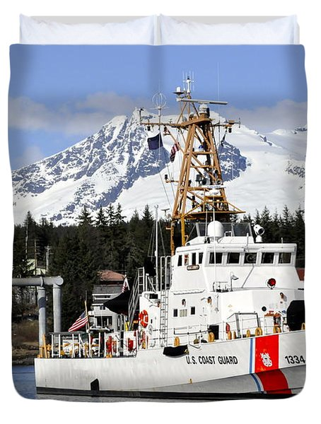 United States Coast Guard Cutter Liberty Duvet Cover
