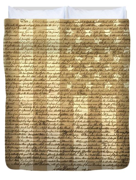 United States Declaration Of Independence Duvet Cover by Dan Sproul