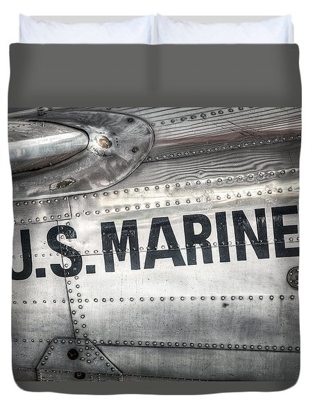 United States Marines - Beech C-45h Expeditor Duvet Cover by Gary Heller