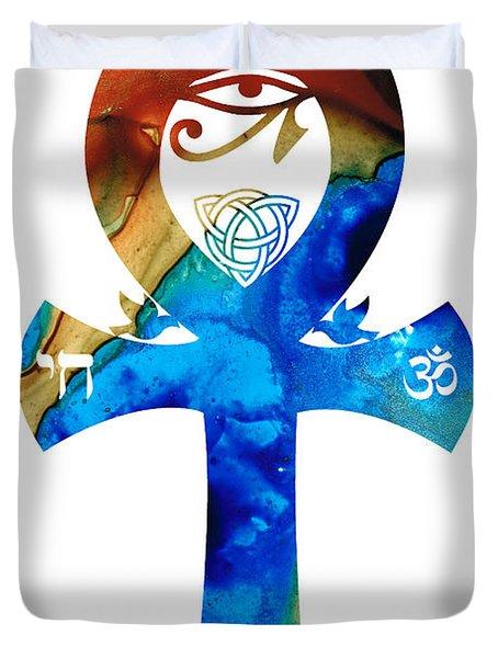 Unity 15 - Spiritual Artwork Duvet Cover by Sharon Cummings