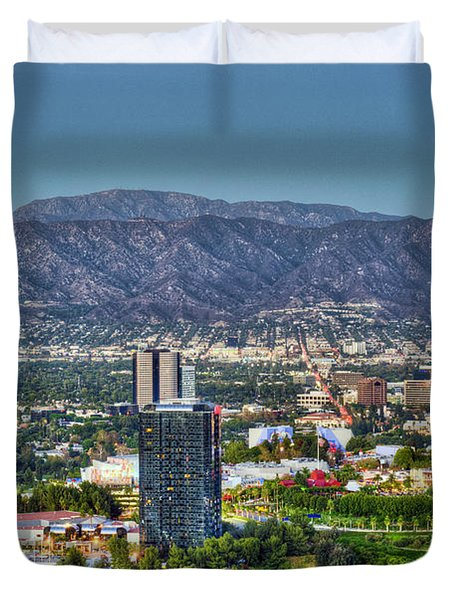 Universal City Warner Bros Studios Clear Day Duvet Cover by David Zanzinger