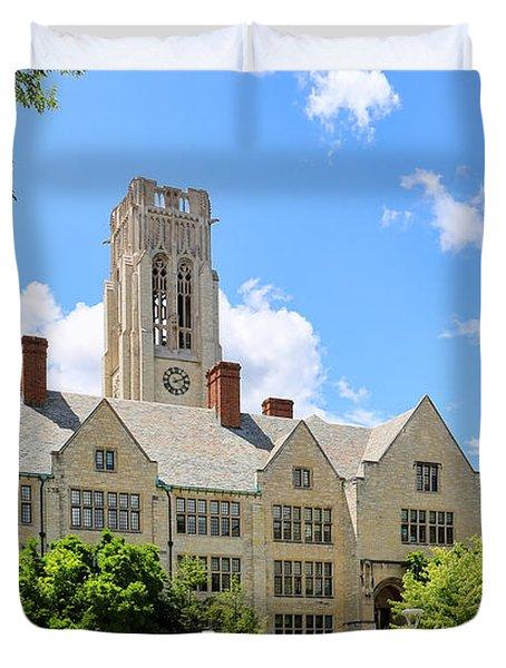 University Hall University Of Toledo 1588 Duvet Cover