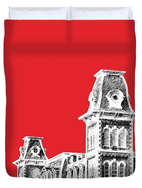 University Of Arkansas - Red Duvet Cover