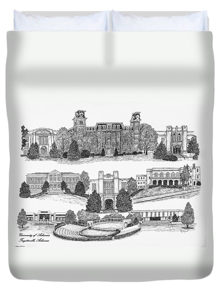 University Of Arkansas Fayetteville Duvet Cover