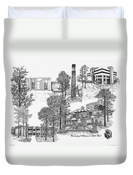 University Of Arkansas Little Rock Duvet Cover