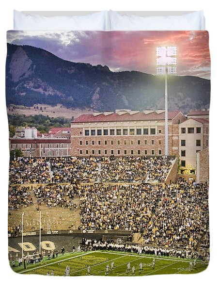 University Of Colorado Boulder Go Buffs Duvet Cover