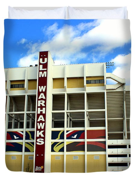 University Of Louisiana At Monroe Malone Stadium Duvet Cover