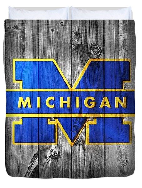 University Of Michigan Duvet Cover by Dan Sproul