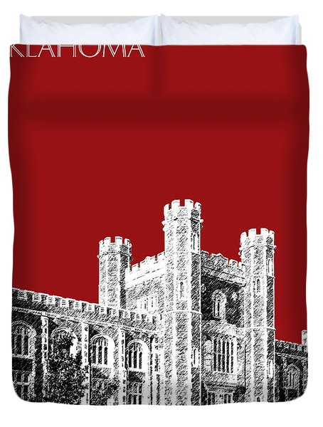 University Of Oklahoma - Dark Red Duvet Cover