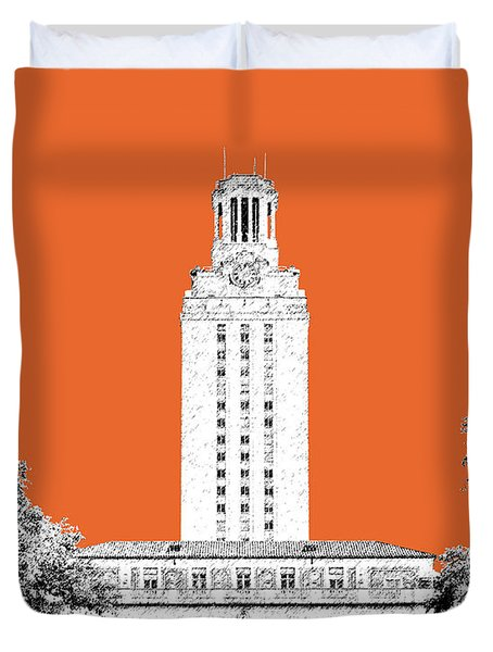University Of Texas - Coral Duvet Cover