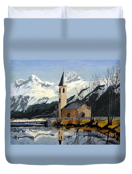 Unknown Place Of Worship Duvet Cover