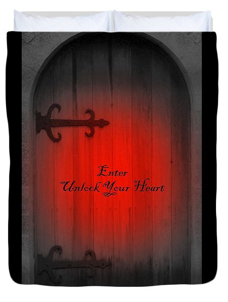 Unlock Your Heart Duvet Cover