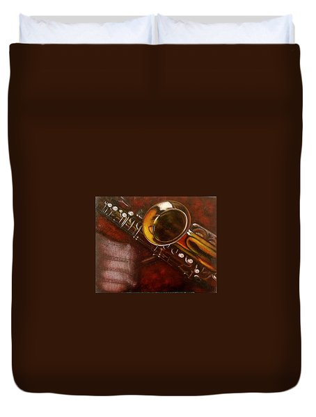 Unprotected Sax Duvet Cover by Sean Connolly