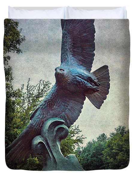 Unt Eagle In High Places Duvet Cover