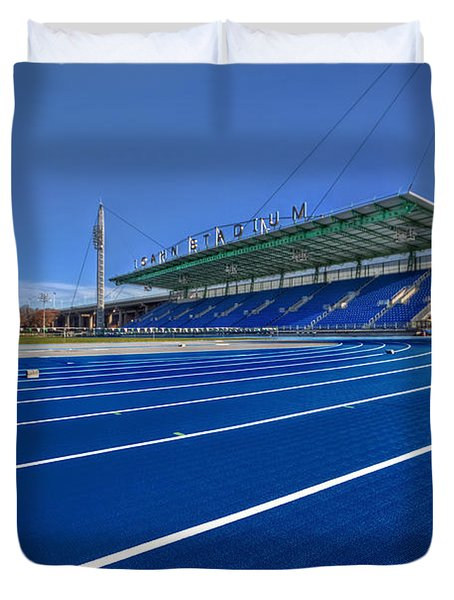 Until The Race Is Run Duvet Cover by Evelina Kremsdorf