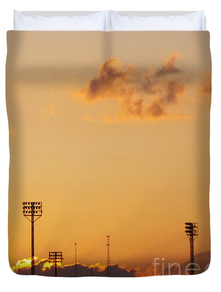 Cemetery Sunset Duvet Cover