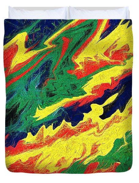 Untitled Effort Duvet Cover by John Freidenberg