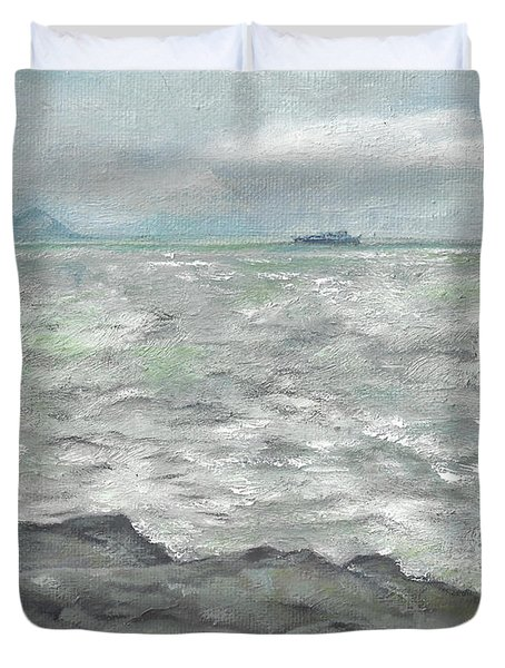 Untitled Seascape Duvet Cover