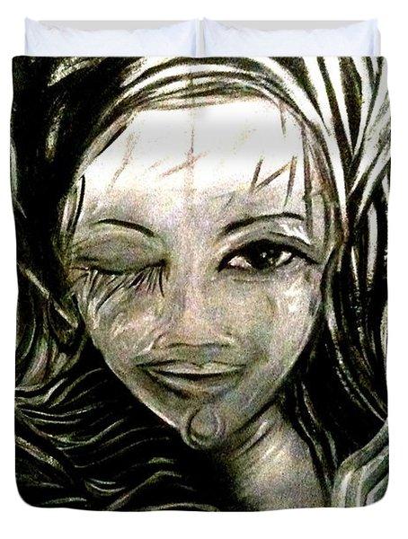 Untitled -the Seer Duvet Cover by Juliann Sweet
