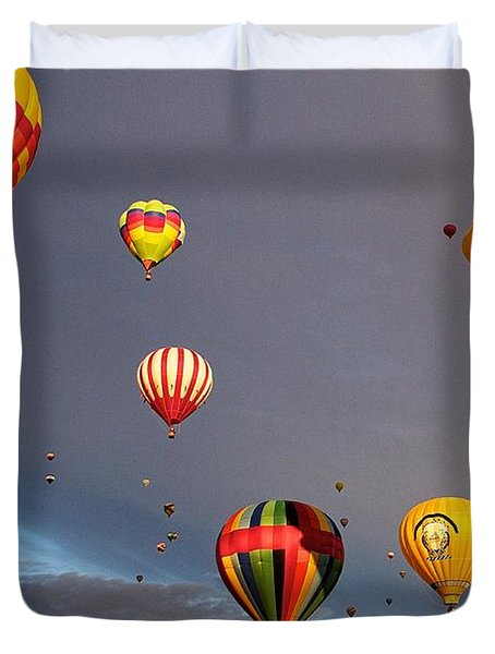 Duvet Cover featuring the photograph Up And Away by Dave Files