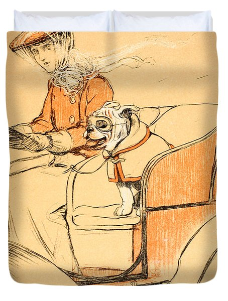 Up Front Duvet Cover by Cecil Charles Windsor Aldin